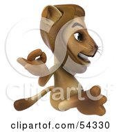 3d Lion Character Meditating Pose 2 by Julos