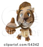 Royalty Free RF Clipart Illustration Of A 3d Lion Character Giving The Thumbs Up Pose 3