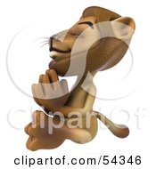 Royalty Free RF Clipart Illustration Of A 3d Lion Character Meditating Pose 4