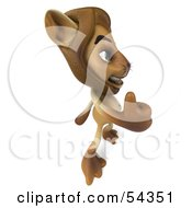 Royalty Free RF Clipart Illustration Of A 3d Lion Character Giving The Thumbs Up Pose 4