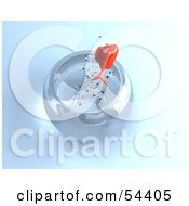 Royalty Free RF Clipart Illustration Of A 3d Goldfish Leaping Up Out Of A Bowl by Julos
