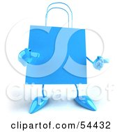 3d Blue Shopping Bag With Arms And Legs by Julos