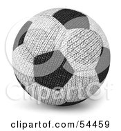 Royalty Free RF Clipart Illustration Of A 3d Fabric Soccer Ball by Julos