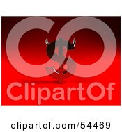 Royalty Free RF Clipart Illustration Of A 3d Devil Dollar Symbol With Horns Version 1