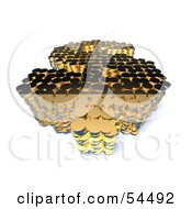 Royalty Free RF Clipart Illustration Of A 3d Dollar Symbol Formed Of Golden Coins Version 5