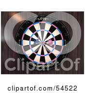 Royalty Free RF Clipart Illustration Of A Dartboard With Darts Version 3