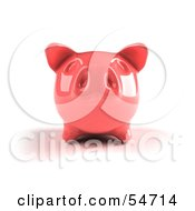 Royalty Free RF Clipart Illustration Of A 3d Pink Shiny Piggy Bank Version 3