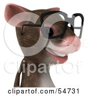 3d Mouse Character Wearing Spectacles Pose 2 by Julos