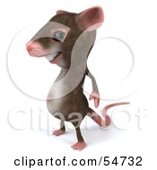 Royalty Free RF Clipart Illustration Of A 3d Mouse Character Standing And Facing Left