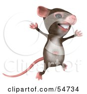Royalty Free RF Clipart Illustration Of A 3d Mouse Character Jumping