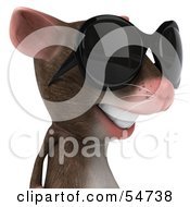 Royalty Free RF Clipart Illustration Of A 3d Mouse Character Wearing Shades Pose 4