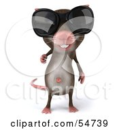 Royalty Free RF Clipart Illustration Of A 3d Mouse Character Wearing Shades Pose 1