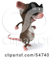 Royalty Free RF Clipart Illustration Of A 3d Mouse Character Wearing Shades Pose 2