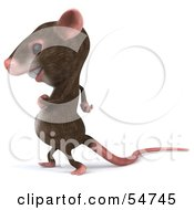 Royalty Free RF Clipart Illustration Of A 3d Mouse Character Walking Left