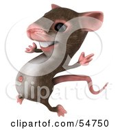 Royalty Free RF Clipart Illustration Of A 3d Mouse Character Leaping