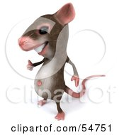 Royalty Free RF Clipart Illustration Of A 3d Mouse Character Giving The Thumbs Up Pose 1