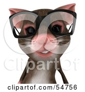 Royalty Free RF Clipart Illustration Of A 3d Mouse Character Wearing Spectacles Pose 1 by Julos