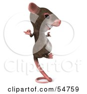 Royalty Free RF Clipart Illustration Of A 3d Mouse Character Perched Up On Its Tail And Meditating Pose 2