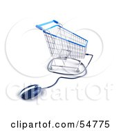 3d Shopping Cart With A Computer Mouse Version 1 by Julos