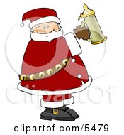 Santa Holding A Beer Stein Clipart Illustration