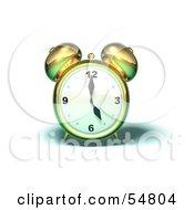 3d Brass Alarm Clock - Version 6