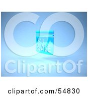 Royalty Free RF Clipart Illustration Of A Blue 3d For Sale Sign Floating Version 3 by Julos