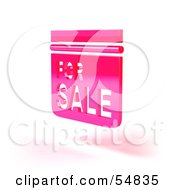 Royalty Free RF Clipart Illustration Of A 3d Pink Floating For Sale Sign Version 3 by Julos