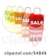3d Row Of Colorful Sale Shopping Bags Version 4 by Julos