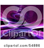 Royalty Free RF Clipart Illustration Of A Reflective Purple Spiral Background Version 4