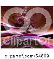 Royalty Free RF Clipart Illustration Of A Reflective Orange Spiral Background Version 1