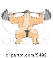 Strong Bodybuilder Lifting Heavy Weights by djart