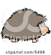 Adult Hedgehog Foraging At Night For Food Clipart Illustration by djart