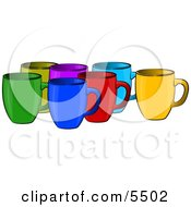 Assorted Coffee Cups Clipart Illustration