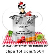 Fresh Vegetable Chicken Soup Clipart Illustration