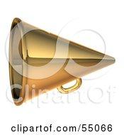 3d Golden Megaphone - Version 2