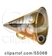 Royalty Free RF Clipart Illustration Of A 3d Golden News Megaphone Version 1