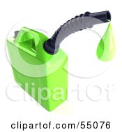 Royalty Free RF Clipart Illustration Of A 3d Green Gas Can Dripping Oil by Julos