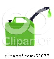 Royalty Free RF Clipart Illustration Of A 3d Green Gas Can Dripping Fuel