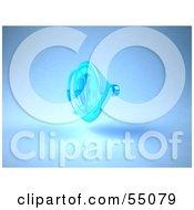 Royalty Free RF Clipart Illustration Of A 3d Blue Speaker Version 1