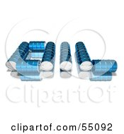 Royalty Free RF Clipart Illustration Of Blue 3d Barrels Spelling The Word OIL Version 2 by Julos