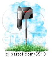 Delivered Mail In A Mailbox Clipart Illustration
