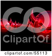 Royalty Free RF Clipart Illustration Of Rows Of 3d Red Devil Heads Moving Forward Version 1