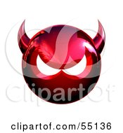 Royalty Free RF Clipart Illustration Of A 3d Metal Devil Head Glaring Version 2 by Julos #COLLC55136-0108