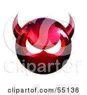 3d Metal Devil Head Glaring - Version 2
