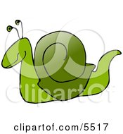 Green Snail Clipart Illustration