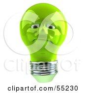 Grumpy Green 3d Electric Light Bulb Head Character