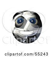 Royalty Free RF Clipart Illustration Of A 3d Soccer Ball Smiley Face Emoticon by Julos