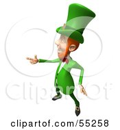 Royalty Free RF Clipart Illustration Of A Friendly 3d Leprechaun Man Character Pointing His Hand Like A Gun Version 4 by Julos