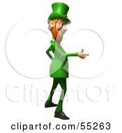 Friendly 3d Leprechaun Man Character Pointing His Hand Like A Gun - Version 2