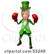 Friendly 3d Leprechaun Man Character Boxing - Version 1